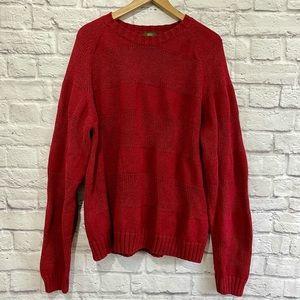 TIMBERLAND Men's Knit Dark Red Sweater